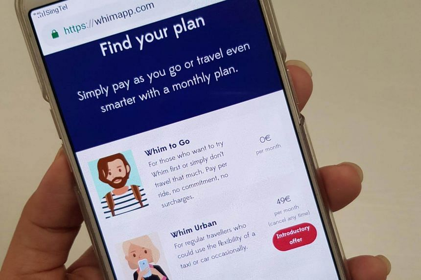 """The Whim app is marketed as the """"Netflix of transport"""", allowing commuters to have a wide menu of travel choices, with payment schemes to suit consumption patterns."""