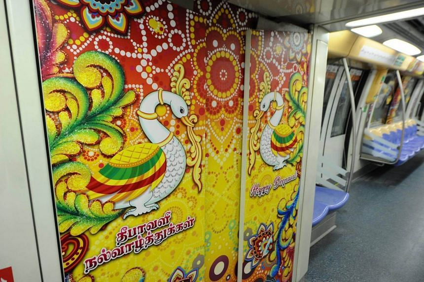 The cabins will be splashed with brightly coloured designs that are ubiquitous during Deepavali season, featuring patterns of the Indian celestial swan (Annapatchi) as well as rangoli motifs.