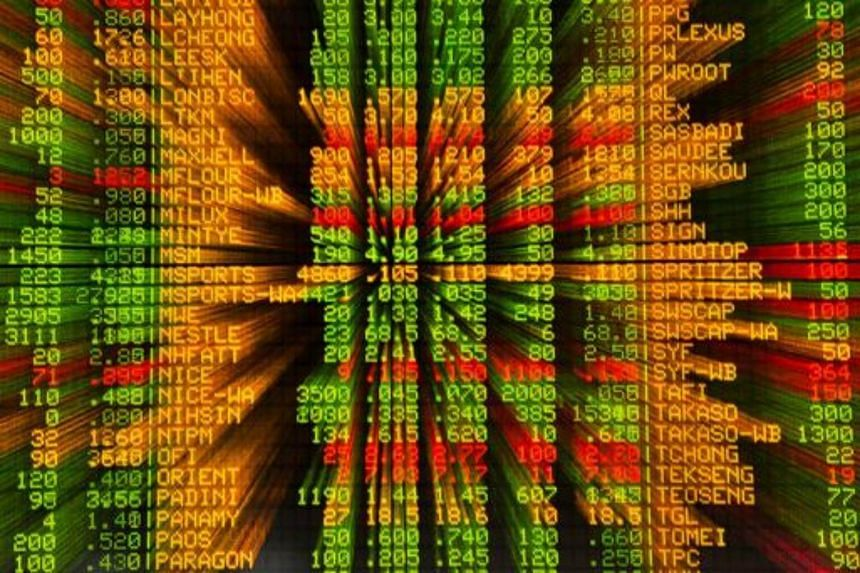 An electronic board showing stock movements is seen at the Malaysia Stock Exchange in Kuala Lumpur.
