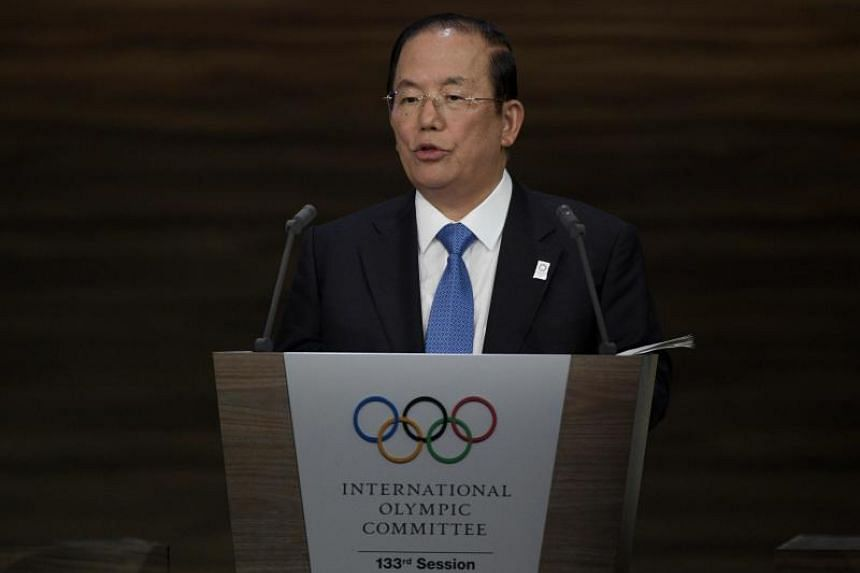 Toshiro Muto, the CEO of the 2020 Tokyo Olympics organising committee, delivers a speech during the 133rd IOC session in Buenos Aires, on Oct 8, 2018.