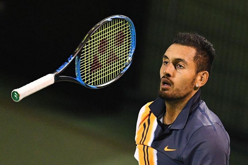 """Nick Kyrgios made a contentious exit from the Shanghai Masters on Oct 8, 2018, after a running argument with the chair umpire who suggested his efforts were """"borderline""""."""