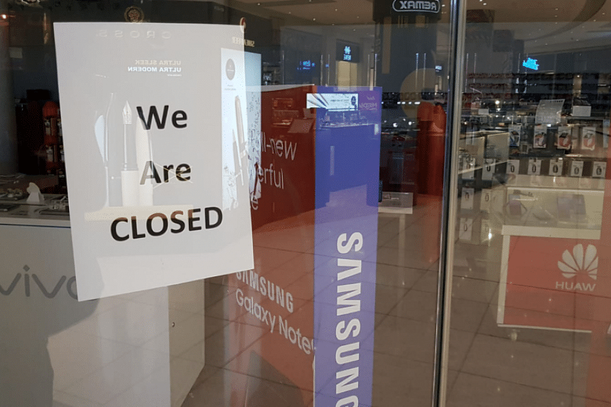 """The Newstead outlet at Suntec City on Oct 8, 2018. On the same day, the company's listing on Acra's business filing portal indicated that its status was """"in liquidation - creditors' voluntary winding up""""."""