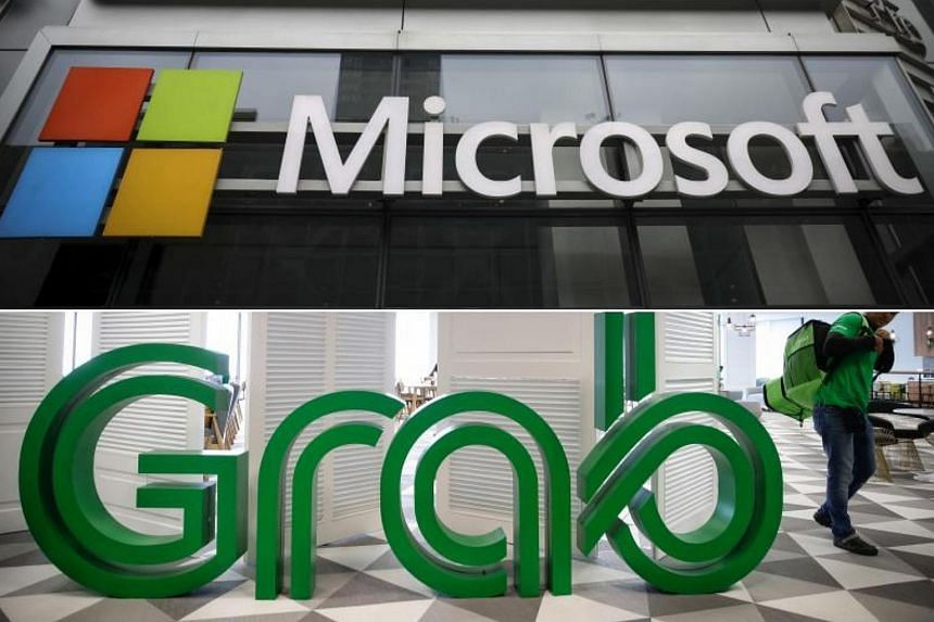 Microsoft buys into ride-hailing firm Grab