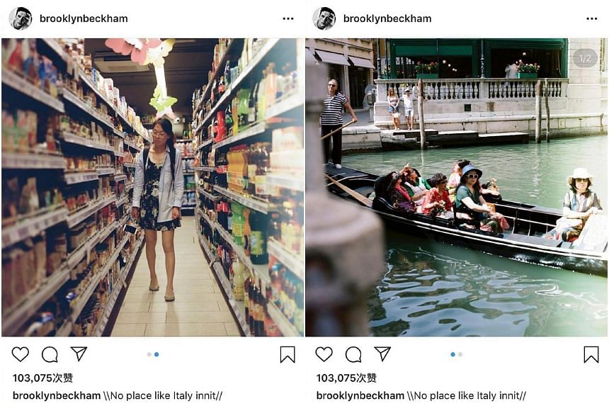 Chinese social media users quickly became outraged at Brooklyn Beckham's post, which they said had singled out the Asian tourists and suggested that they were not welcome in Italy.