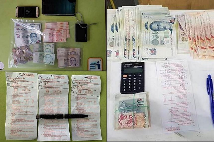 Police seized about $15,000 in cash, mobile phones, pens, pagers and documents, such as betting records, during the operation.