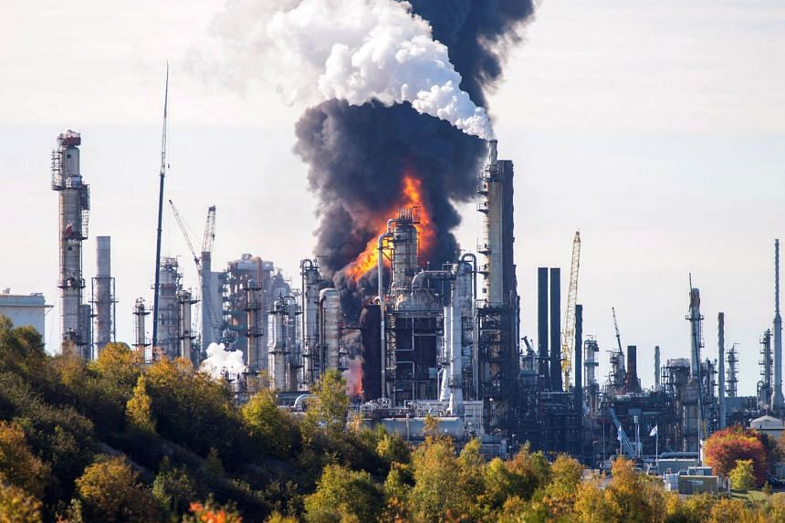 The blast was believed to be the result of a malfunction in the diesel refining section of the Irving Oil refinery in St John's, New Brunswick.