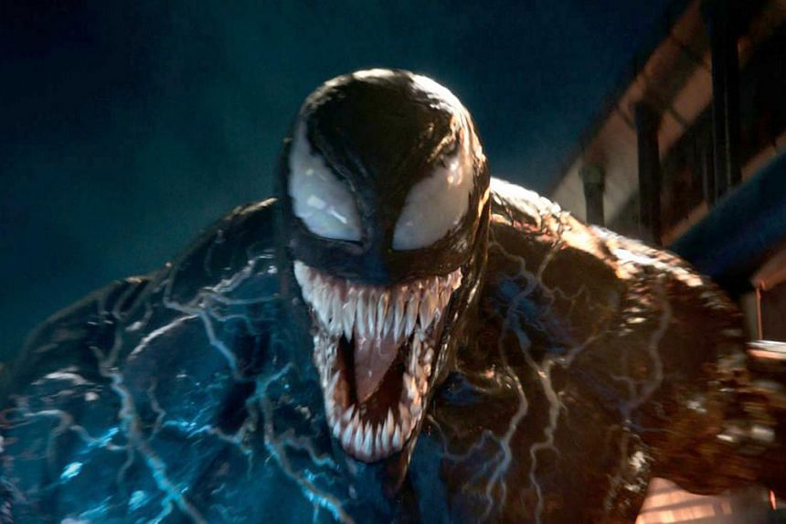 Superhero movie Venom, starring Tom Hardy and projected by analysts to gross US$65 million (S$90 million) to US$70 million, nabbed a record-breaking US$80 million.