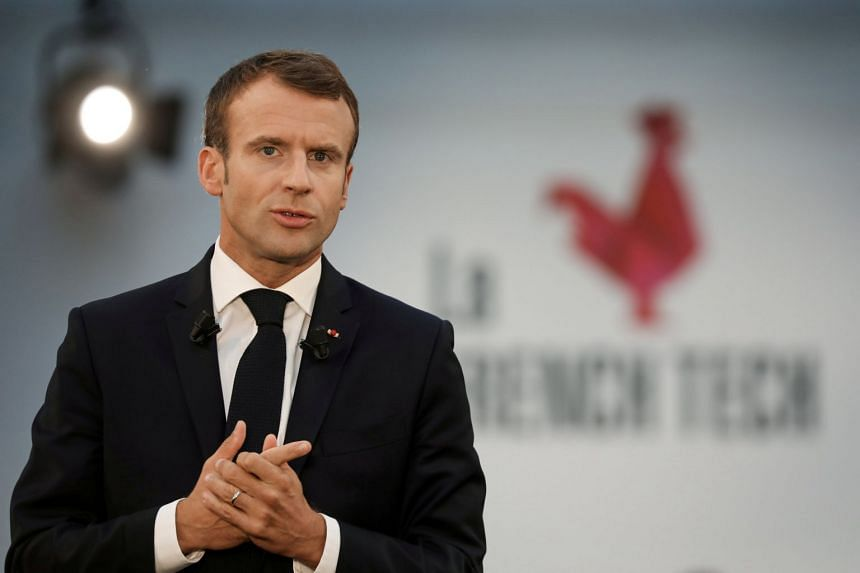 Macron (above) has seen his popularity sink to historic lows.