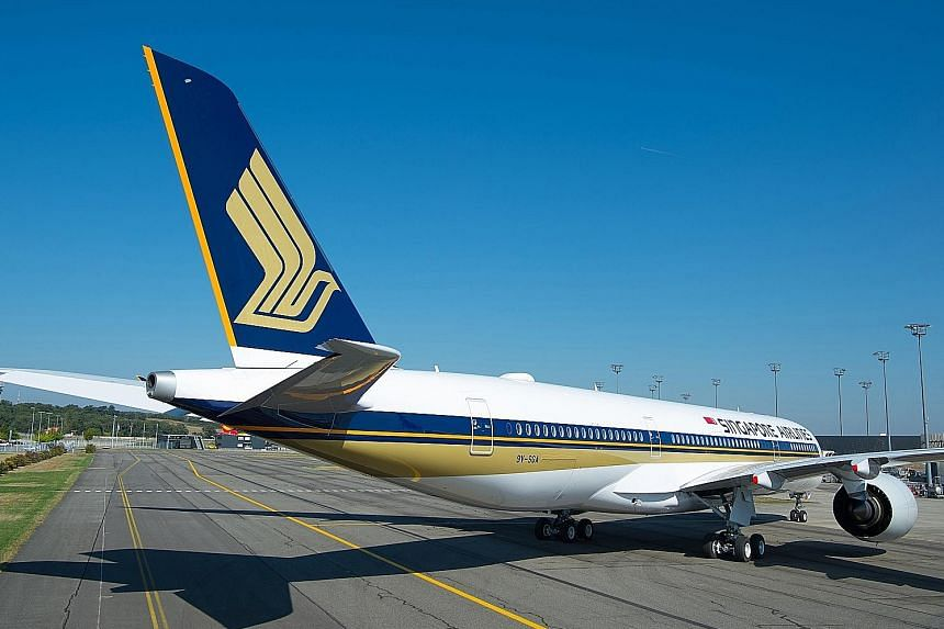 SIA last month took delivery of the first of seven Airbus A350-900 Ultra Long Range aircraft, which it will use on the Singapore-New York route as well as for non-stop services to Los Angeles starting next month. The jet carries up to 161 passengers,