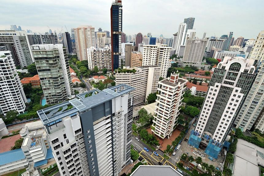 Condominium and private apartment resale prices are now down 0.5 per cent from their peak in July, when the new property curbs were announced, but are still up 10.8 per cent from September last year.