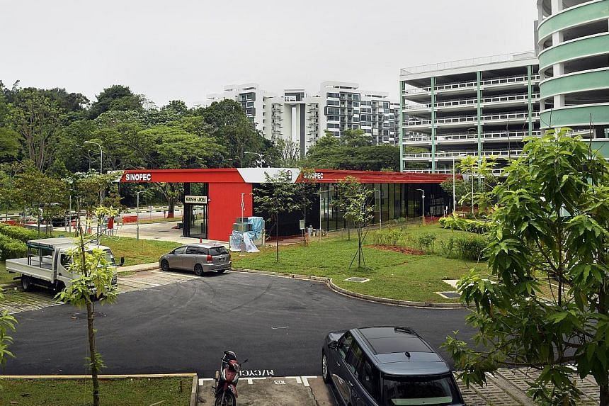 Sinopec secured the 1,689 sq m plot in Yishun Avenue 1 for $42.5 million in February last year. Its maiden station has a car wash and a convenience store. Sinopec is said to be sourcing its fuels from Shell, with which it has a close working relation