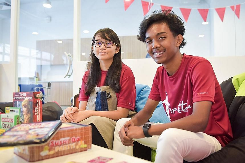 ITE students Natasha Chan, 17, learnt the art of coffee-making, while Shah Iran, also 17, took a course in outdoor camp facilitation.