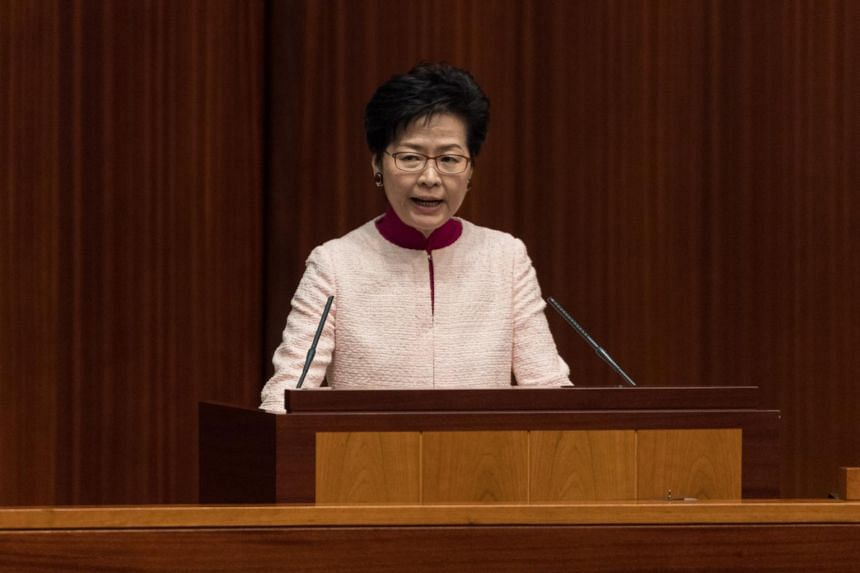 Chief Executive Carrie Lam said the government will build new communities on artificial islands around Lantau, the largest outlying island in Hong Kong.