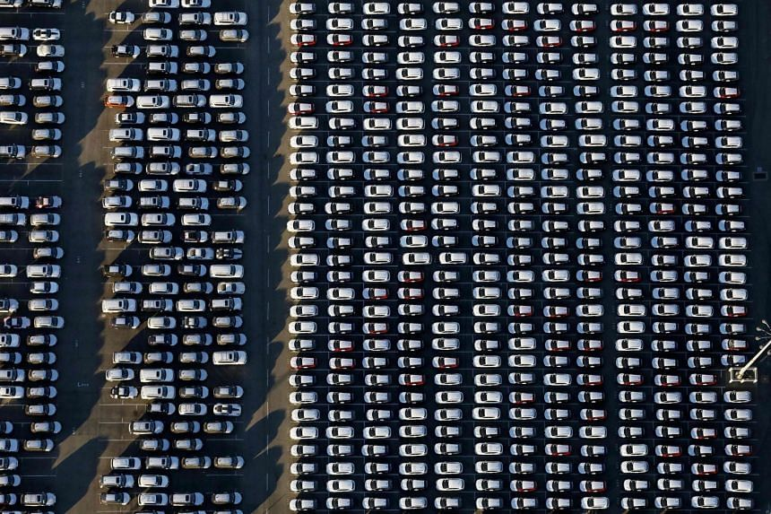 Imported vehicles sit in a lot after being off-loaded at the Port of Los Angeles, in Wilmington, California. Cars are among items hit in the Sino-American trade war.