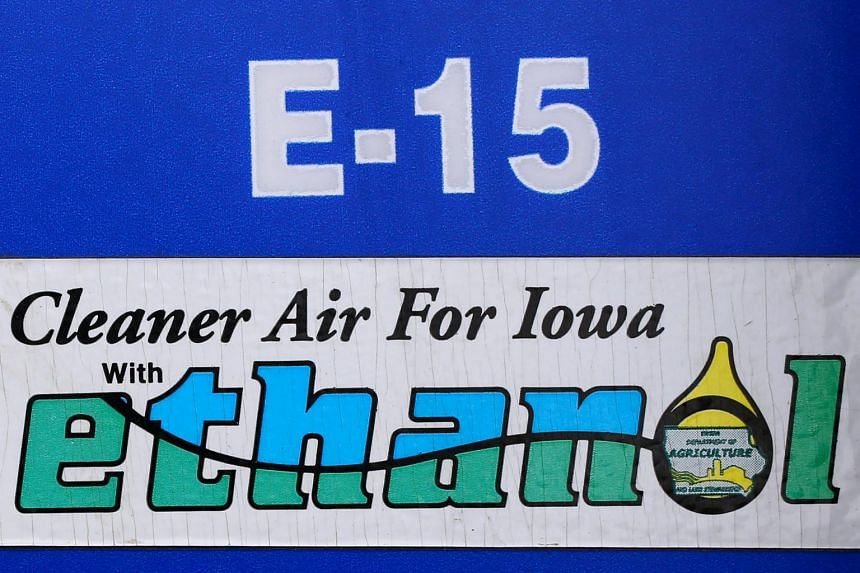A gas pump selling E15, or fuel containing up to 15 per cent ethanol, in Mason City, Iowa, on May 18, 2015. The sale of E15 is currently banned in the summer due to concerns about smog.