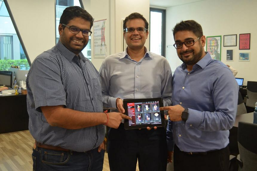 TabSquare is founded in 2012 by three Insead graduates (from left) Sankaran Sreeraman, Chirag Tejuja and Anshul Gupta.