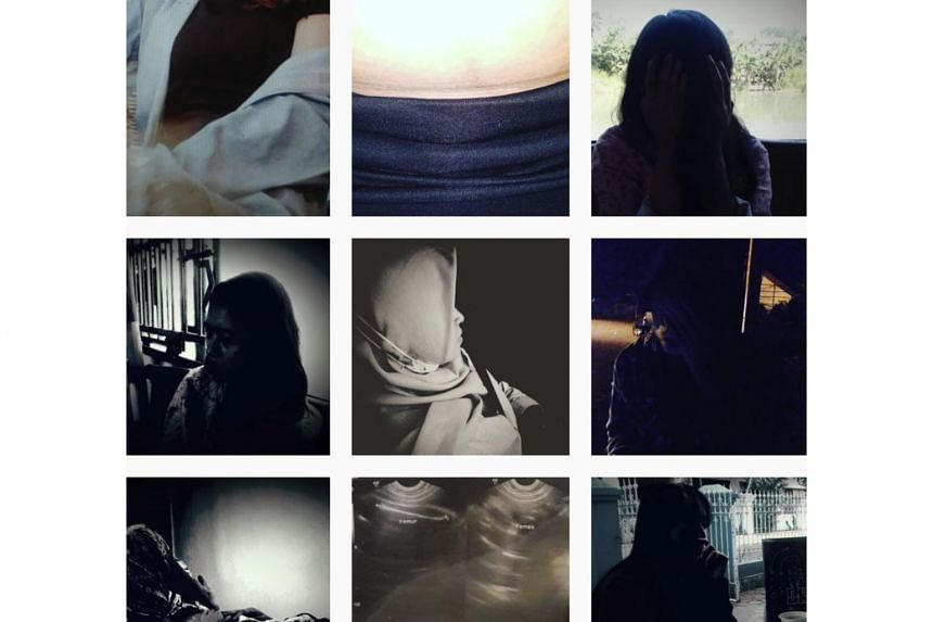 The Instagram page uses obscured photos of clients - mothers with faces covered - who had sold their babies.