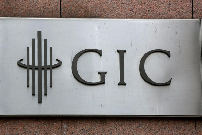 The logo of sovereign wealth fund GIC on a building in Singapore, on July 6, 2017.