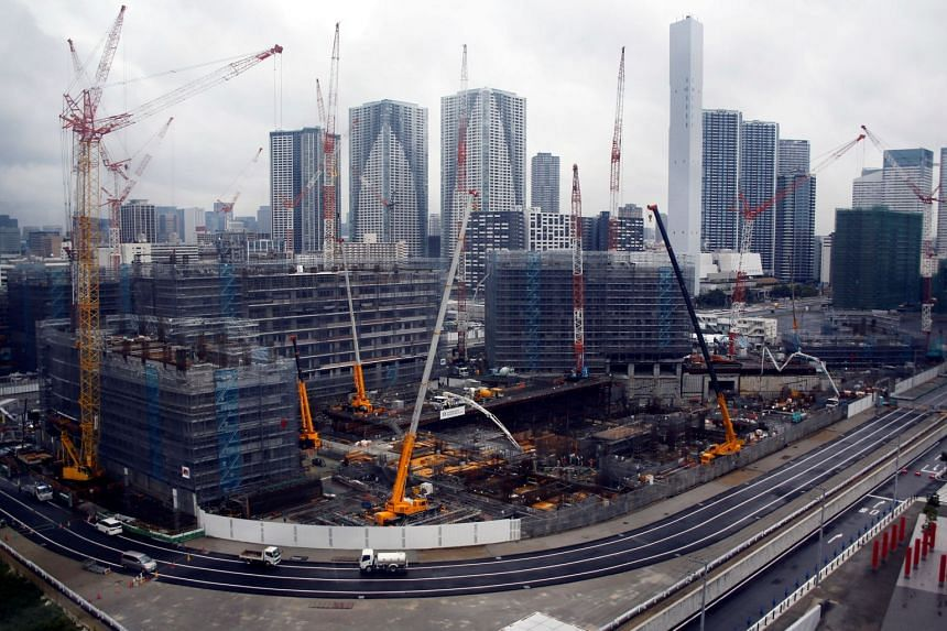 The construction site of the Athletes' Village for Tokyo 2020 Olympic games, which will serve as residential apartments after the event is over.