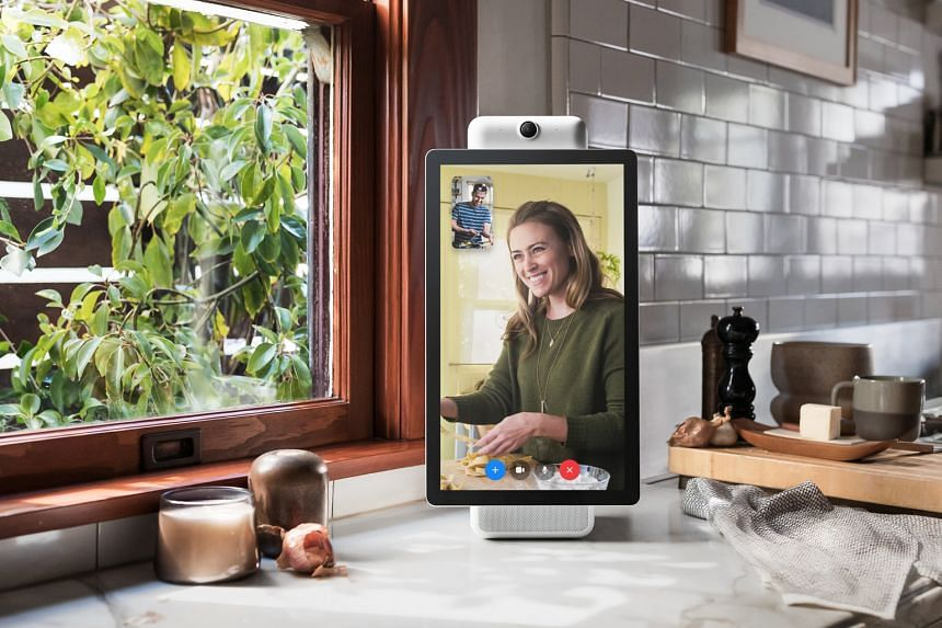 Facebook's Portal comes in two sizes - a 10-inch version and a 15-inch one.