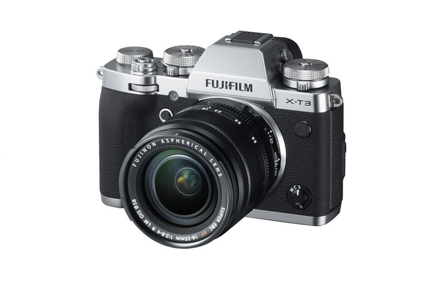 The Fujifilm X-T3 has well-designed controls and a comfortable rubberised grip.