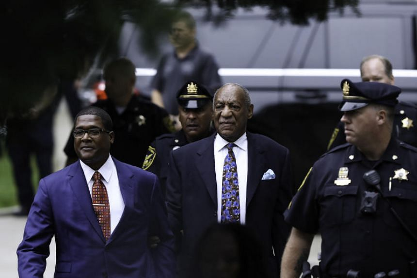 Bill Cosby arrives at the Montgomery County Courthouse after the first day of his sentencing hearing in Norristown, on Sept 24, 2018.