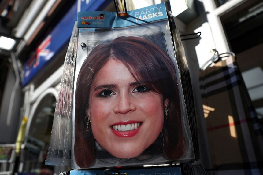 Face masks on sale at a Windsor gift shop ahead of Princess Eugenie's wedding to Jack Brooksbank.