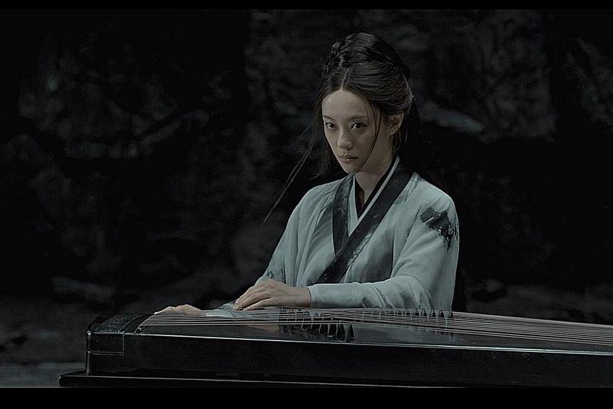 Sun Li plays Commander Zi Yu's wife, Xiao Ai, in Shadow.