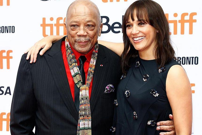 Quincy Jones (above left) and daughter Rashida (above right)