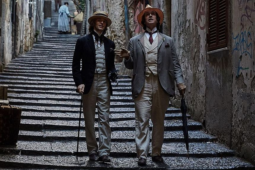 Rupert Everett (left) and Colin Morgan in The Happy Prince.