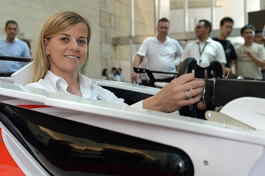 Susie Wolff became the first woman to drive in a Formula One race in 22 years when she did so during practice for Williams at the 2014 British Grand Prix.