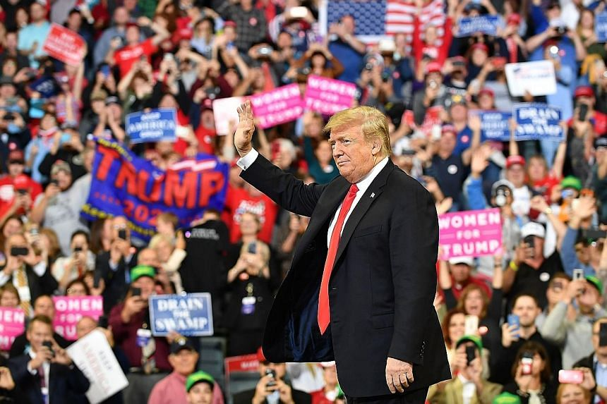 At a rally in Iowa on Tuesday, US President Donald Trump used the bitter battle over Justice Brett Kavanaugh to boost Republican voter enthusiasm for the Nov 6 midterm elections, but surveys show that Democrats are enthusiastic to vote too.