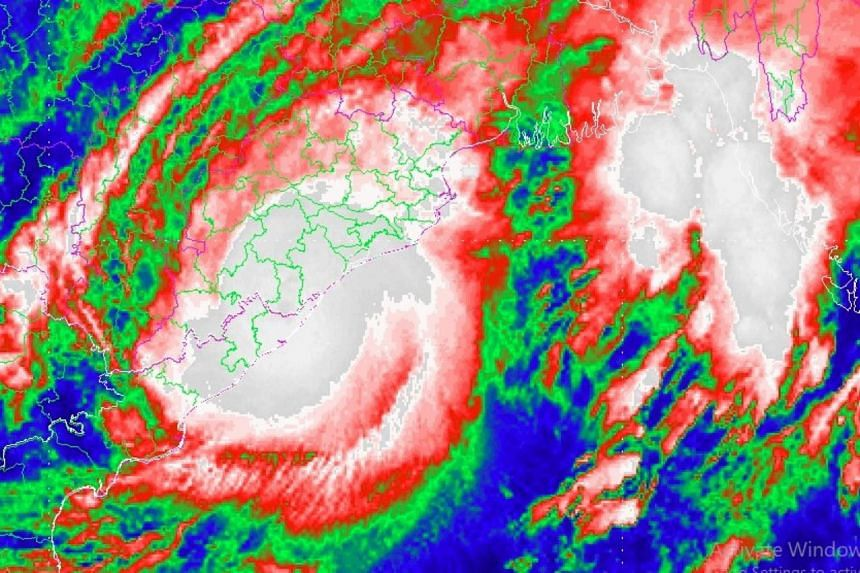 """Cyclone Titli, which intensified into a """"very severe cyclonic storm"""" over the Bay of Bengal, made landfall near Gopalpur on India's east coast."""