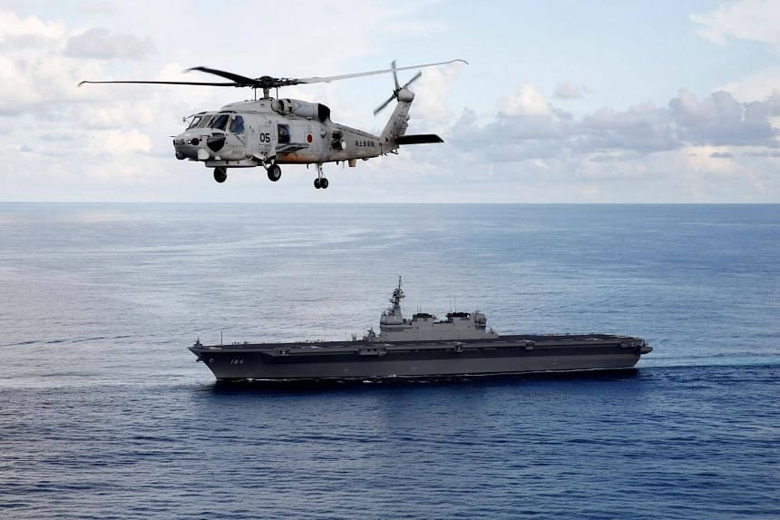 The Kaga, Japan's second big helicopter carrier, entered service in 2017, giving its military greater ability to deploy beyond its shores.
