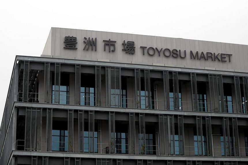 The new Toyosu market facility is seen on its opening day in Tokyo, on Oct 11, 2018.