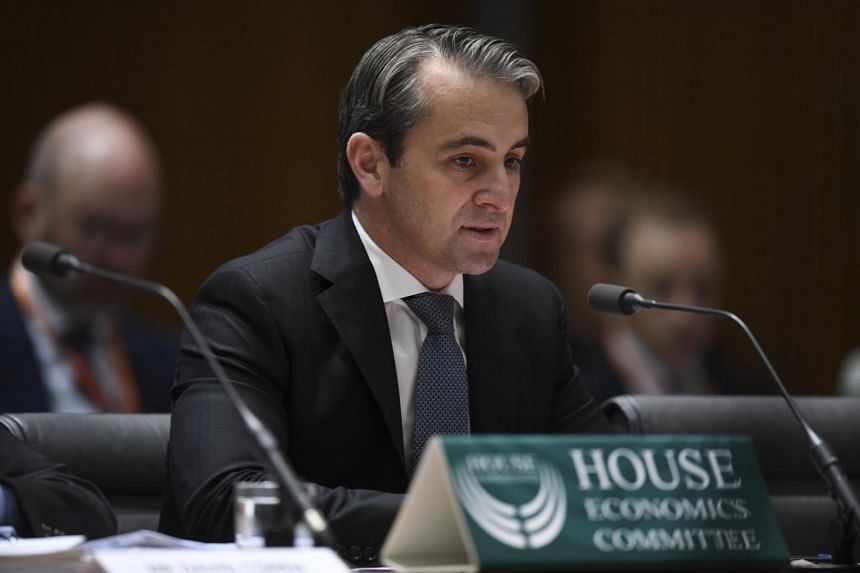 Commonwealth Bank CEO Matt Comyn at the hearing of the House Economics Committee at Parliament House in Canberra, Australia, on Oct 11, 2018.