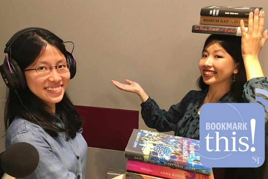 Bookmark This! podcast hosts Toh Wen Li (left) and Olivia Ho break down the six contenders on the 2018 Man Booker Prize shortlist.