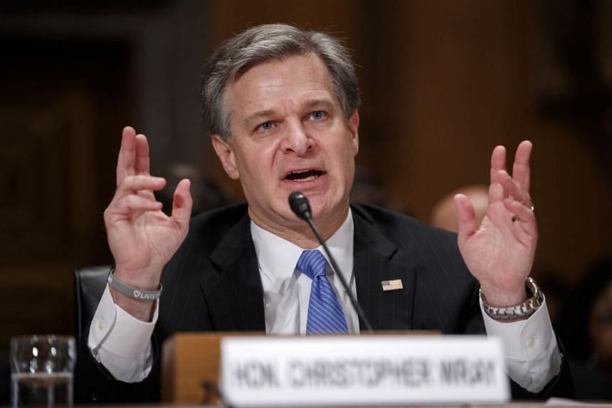 FBI Director Christopher Wray's remarks were his first public comments about the FBI's role in the background investigation.