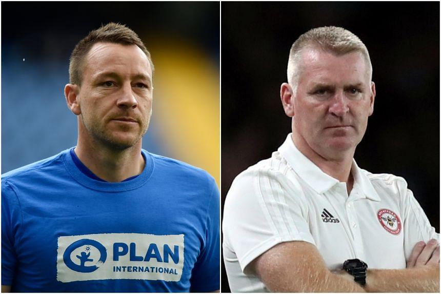 Former England captain John Terry (left) and new Aston Villa boss Dean Smith.
