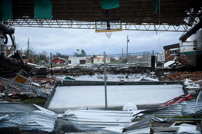 Damaged property seen after Hurricane Michael passes Panama City, Florida, on Oct 10, 2018.