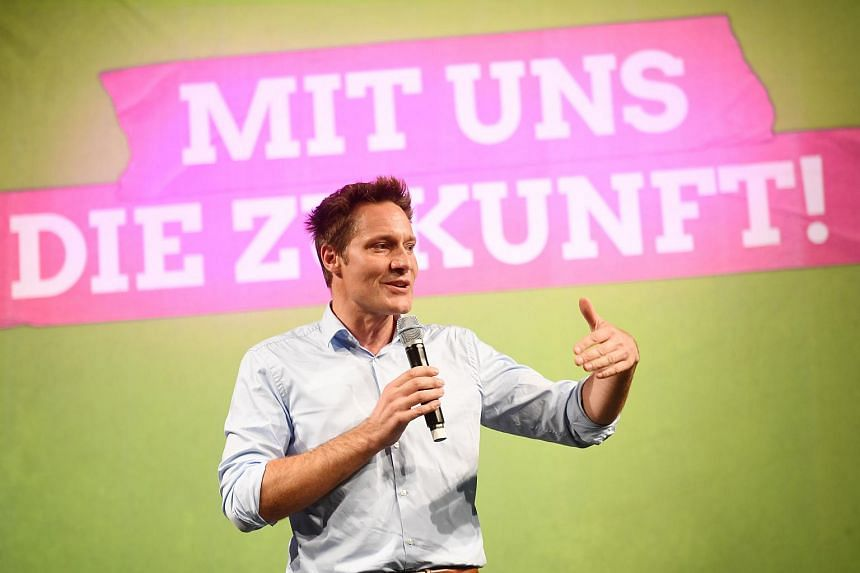 Ludwig Hartmann, top co-candidate of the Greens for regional elections in Bavaria, during a regional party congress in Munich, southern Germany, on Oct 7, 2018.