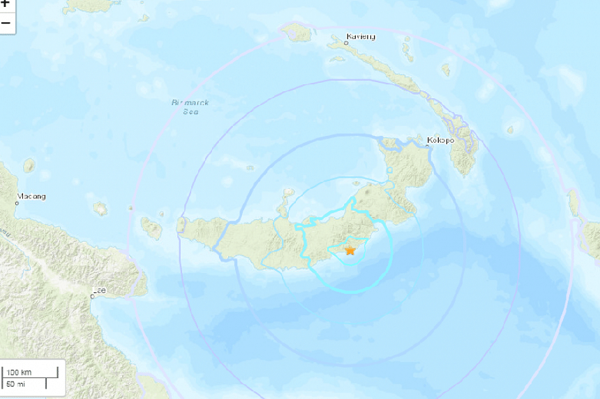 The quake hit about 200km south-west of the town of Rabaul at a depth of almost 40km. Police officers had not yet been able to contact villages closer to the epicentre.