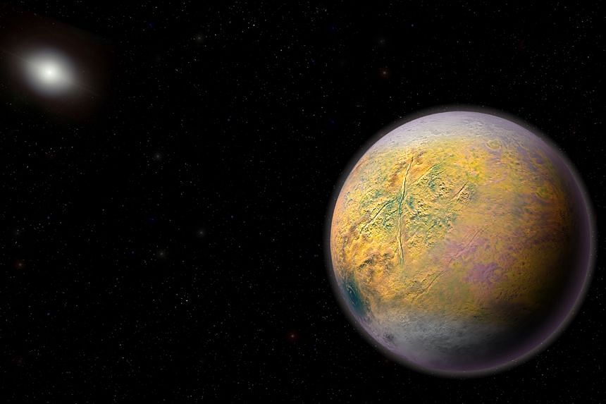 An artist's rendering of the ninth planet that astronomers believe to exist. Last week, astronomers at the Carnegie Institution for Science found a small ice world TG387 in their search for new worlds.