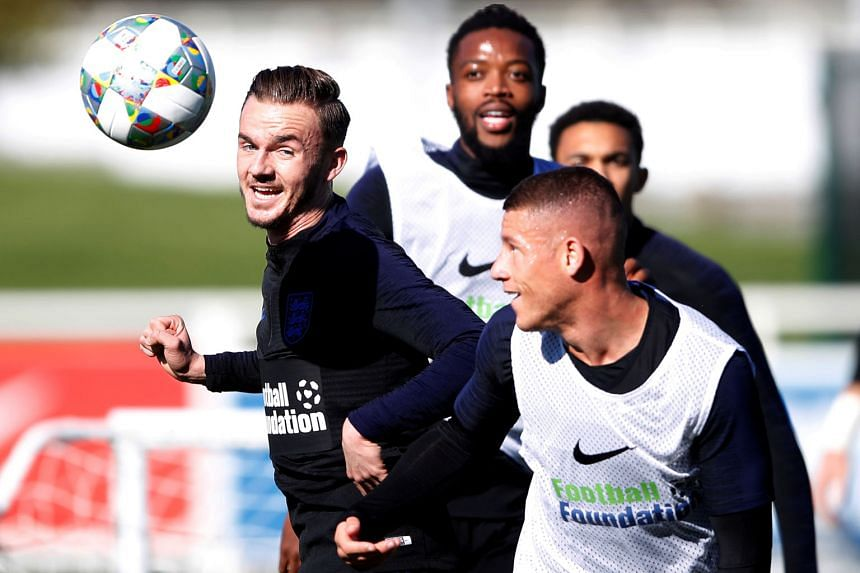 England midfielders (from left) James Maddison, Nathaniel Chalobah and Ross Barkley are up for the challenge of taking on Croatia's Fifa Player of the Year Luka Modric despite the gulf in international experience. Maddison and Chalobah have not been