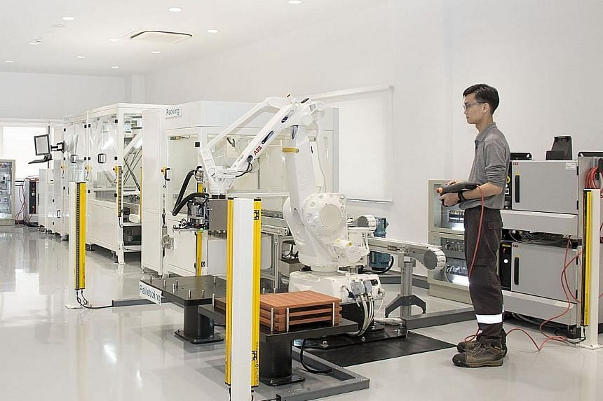 ABB's Singapore managing director Johan de Villiers says South-east Asia is on the cusp of the fourth industrial revolution, and ABB's expanded presence in Singapore aims to tap into it. Its new customer innovation centre includes a robotics applicat