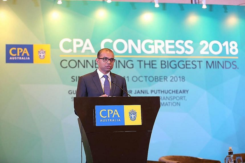 At the CPA Congress yesterday, Senior Minister of State for Transport, and Communications and Information Janil Puthucheary spoke of a bright outlook for Singapore's accountancy sector, with growing demand for such professional services.