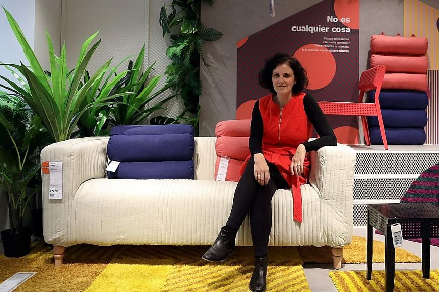 Ms Barbara Martin Coppola, chief digital officer at Ikea Group, at a store in Madrid, Spain, on Wednesday. Ikea is now investing in e-commerce, city-centre showrooms and more home delivery and assembly services.