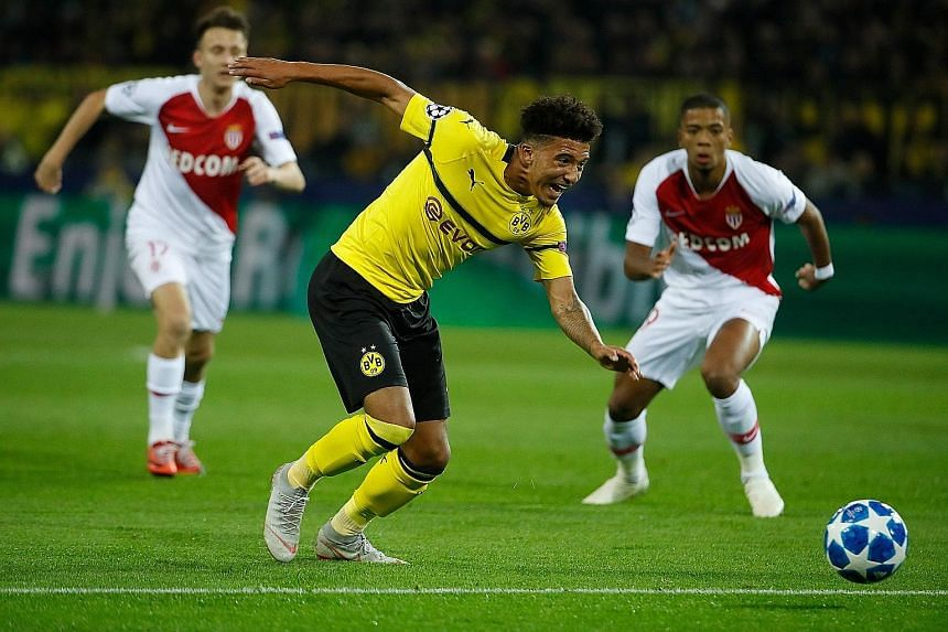 English midfielder Jadon Sancho has starred in the Bundesliga and the Champions League for Borussia Dortmund this season. In Europe's elite club competition, the 18-year-old created the German club's first goal in last week's 3-0 win over Monaco (abo