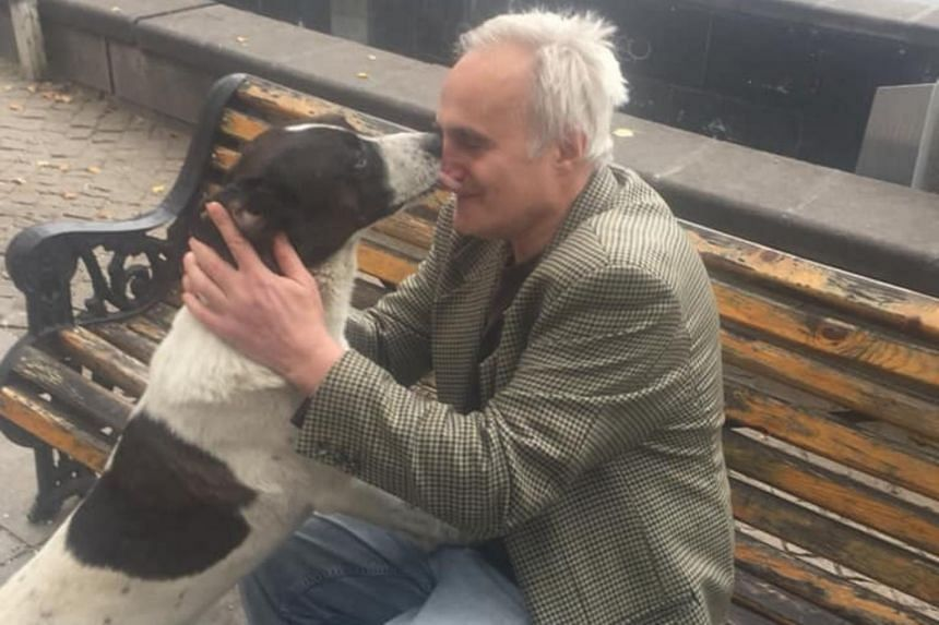 Mr Giorgi Bereziani, 62, did not give up hope for three years and continued to put up notices and comb the streets in a bid to find his beloved companion.