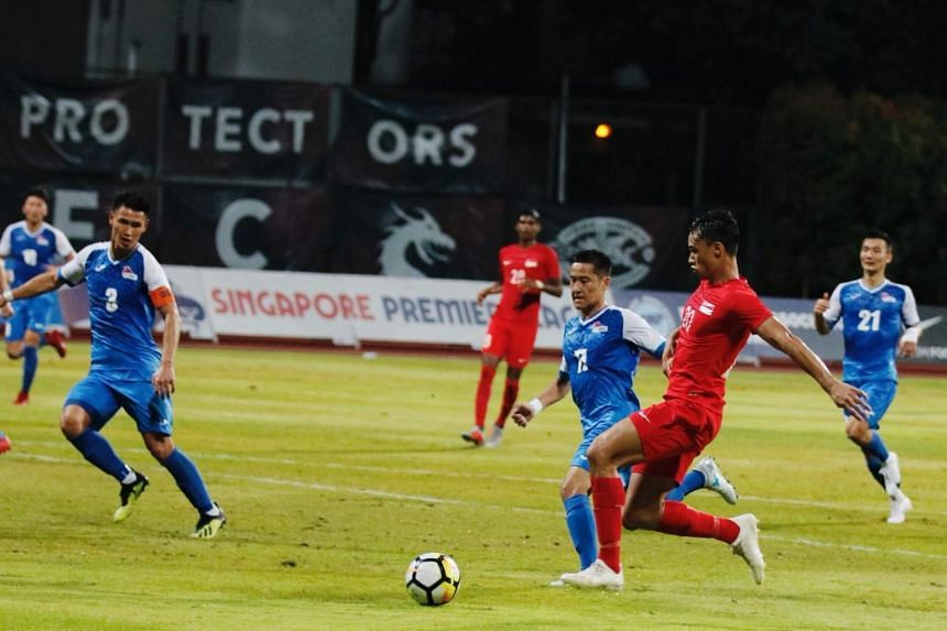 The Lions continue their unbeaten run under interim national football coach Fandi Ahmad after beating Mongolia 2-0 in a friendly at Bishan Stadium, on Oct 12, 2018.